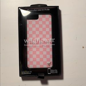 Pink checkered iPhone case from Wildflower